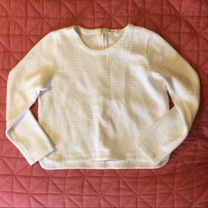 Madewell cropped quilted sweatshirt